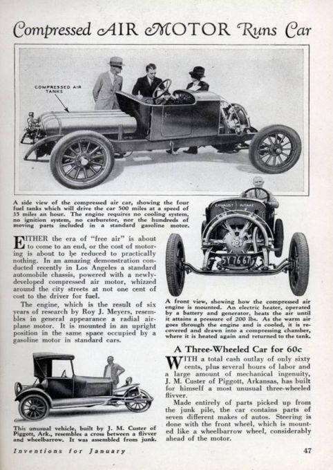 Compressed Air Car >> Compressed Air